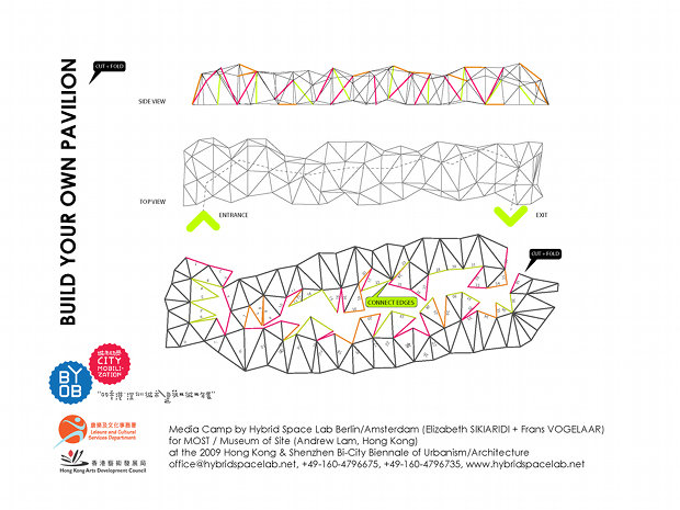'Build Your Own Pavilion' at the Hong Kong & Shenzhen Bi-city Biennial of Urbanism and Architecture 2009-2010