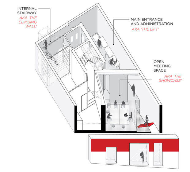 Drawing of Ecosistema Urbano office in Madrid