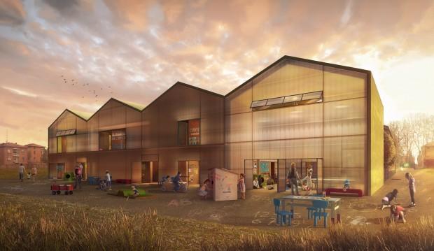 Recreation of the experimental educational centre in Reggio Emilia - by Carlos Mazón