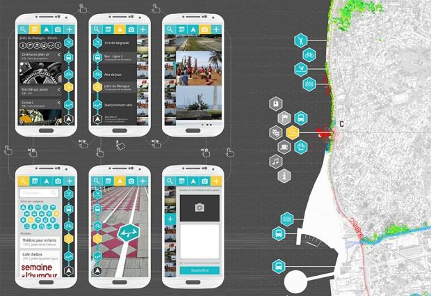 Tentative screenshots of the application