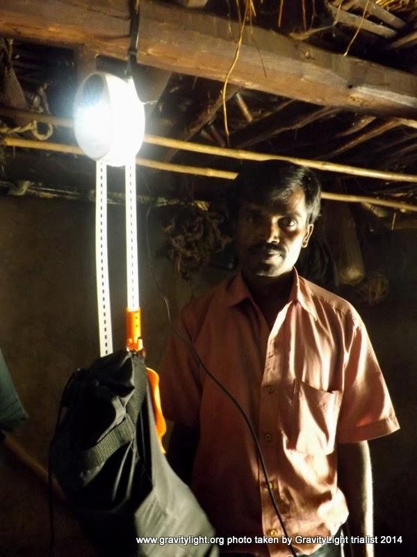 La lámpara en pruebas de uso real