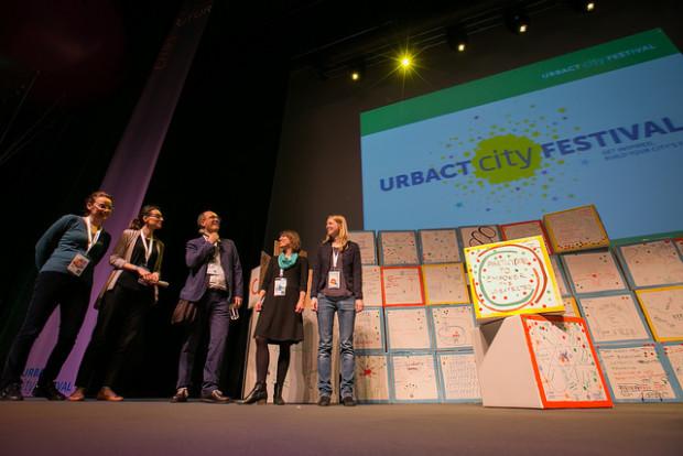 Compartiendo los resultados de los trabajos en grupo - URBACT City Festival