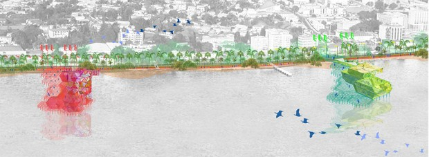 Concept draft of the piers as urban catalyzers