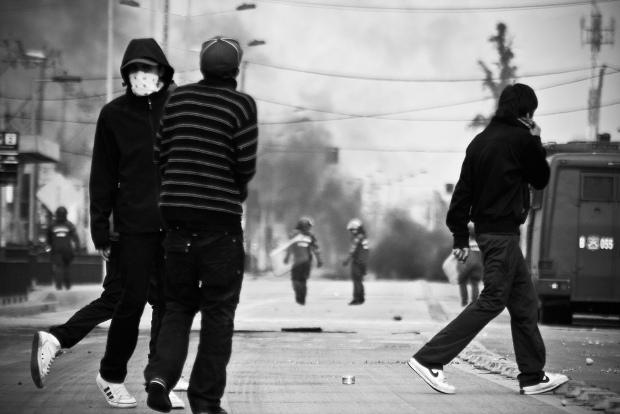 """Periferia rebelde"", foto de Claudio Cáceres"