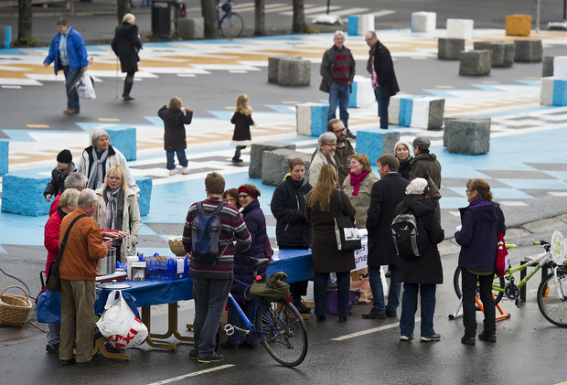 People at Stortorget
