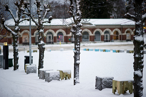 Nieve en Stortorget, Hamar