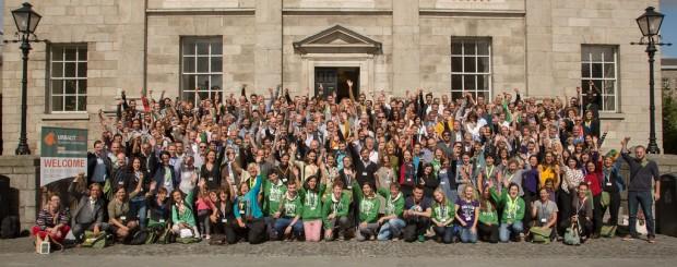 Asistentes y organizadores en el Trinity College de Dublín - Foto: URBACT