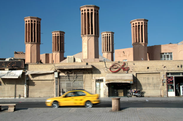 Badgirs in Iran's Yazd Desert