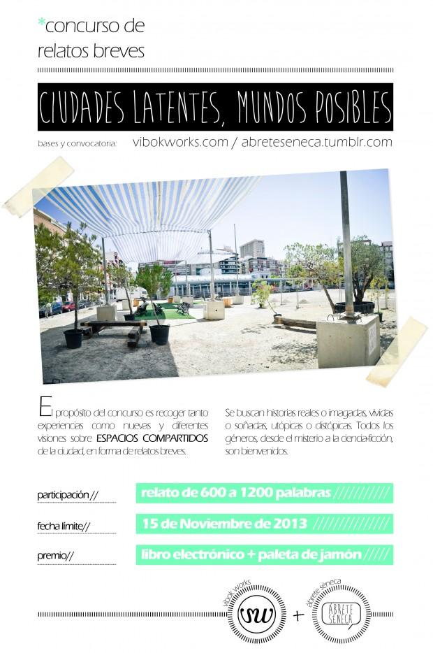 Cartel del concurso: Ciudades latentes, mundos posibles