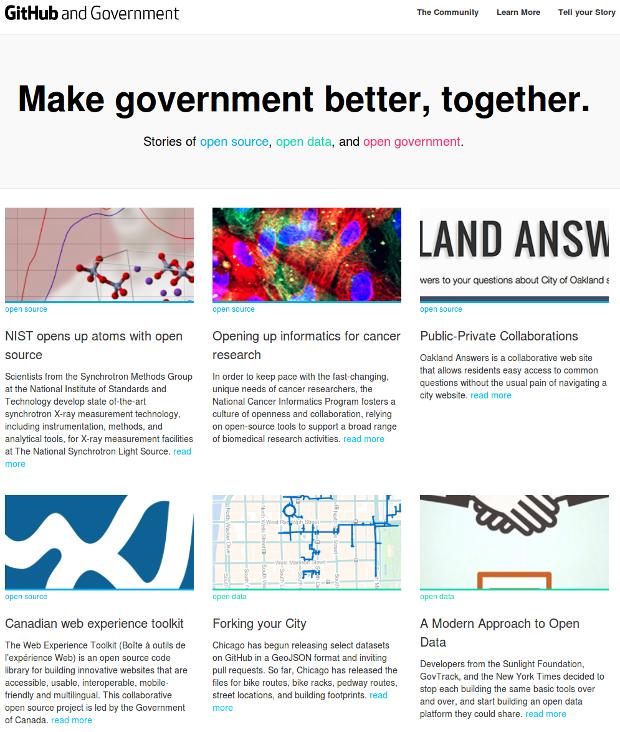 GitHub and Government