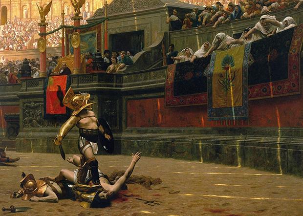 Pollice Verso, Jean-Léon Gérôme, 1872 - clic para ver original