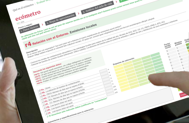 Ecómetro, herramienta online