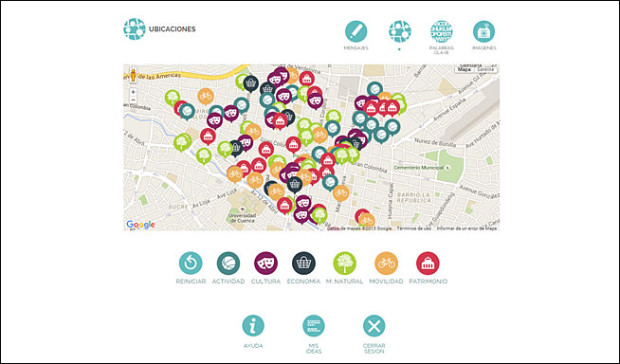 Vista Mapa, plataforma Local In Cuenca