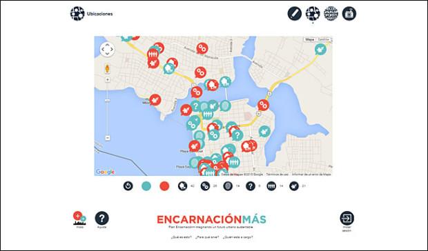 Plataforma Local In, para el proyecto Encarnación Más, vista mapa