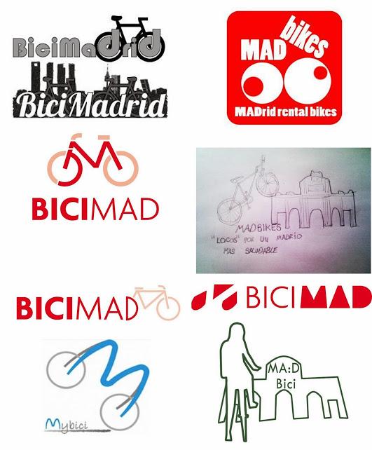Propuestas de nombres y logos para el servicio, por lectores de EnbiciporMadrid