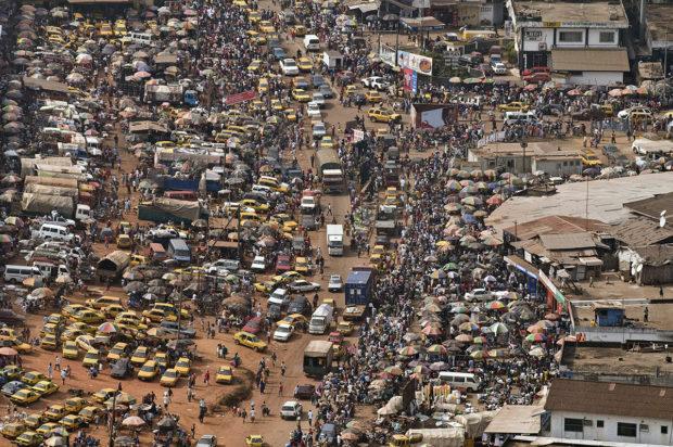 Vista aérea de Monrovia, Liberia, tomada de la UNMIL. Foto: UNMIL Photo/Ari Gaitanis