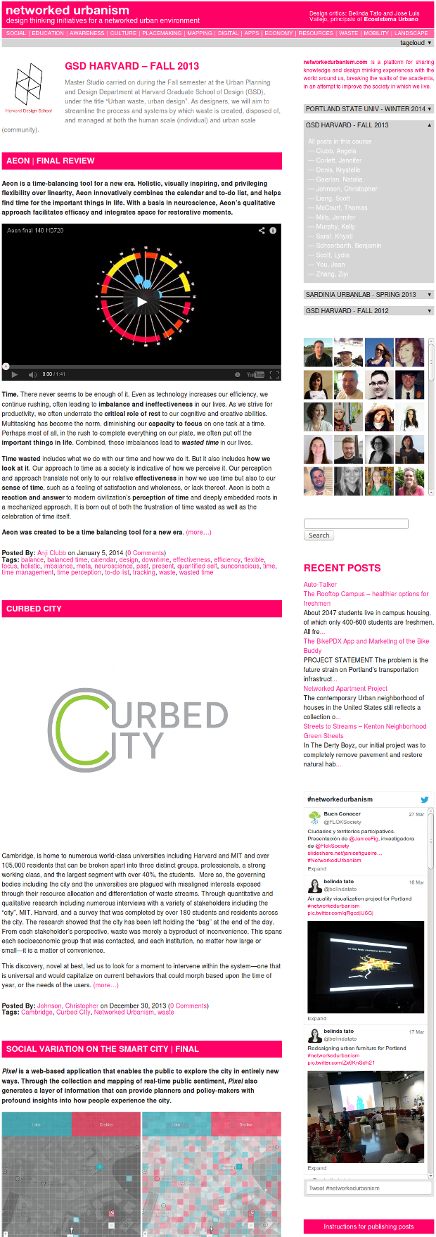 Networked Urbanism website - clic to visit