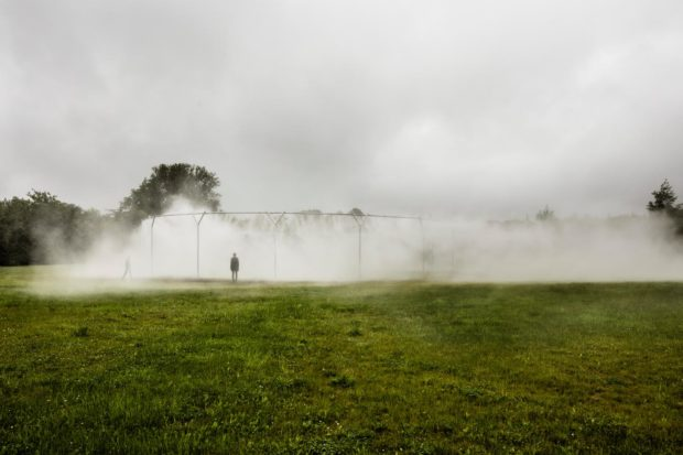 Fog Assembly, Olafur Eliasson, Versailles 2016. Image courtesy of Olafur Eliasson, Anders Sune Berg