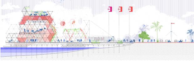 Vertical section of the biggest 'jetée'