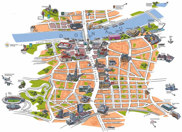 Tourist city map - Click to View PDF