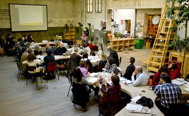 Vista general de la sala en Impact Hub Madrid