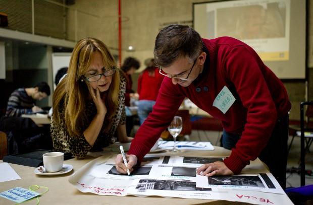 Preparando un rápido collage sobre cada proyecto, sus objetivos y su contexto