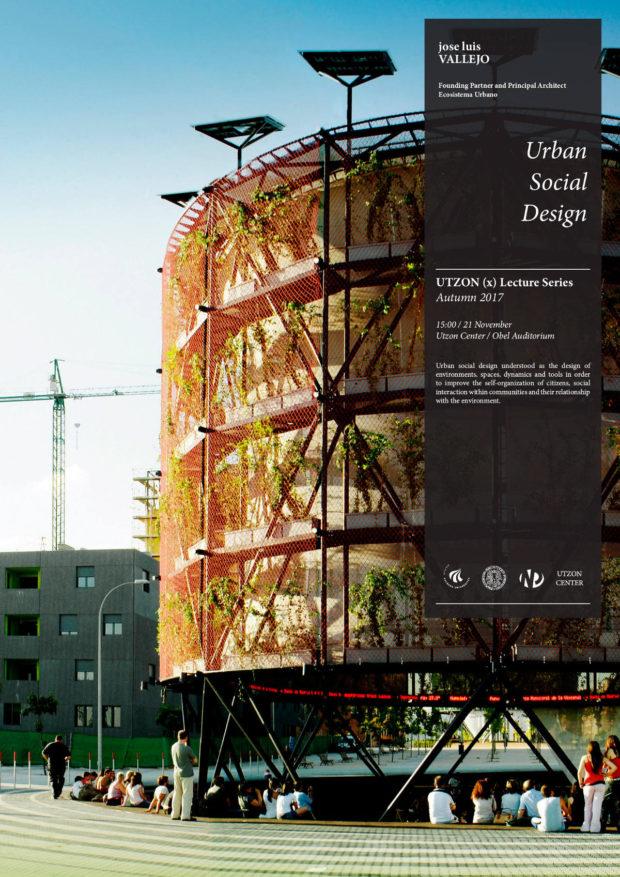 Cartel - Charla de Ecosistema Urbano en la serie Utzon(X)