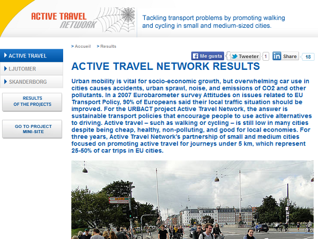 Resultados de la red Active Travel Network - clic para ver