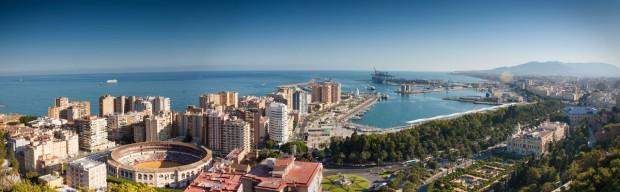 Vista aérea de Málaga por Paolo Trabattoni