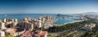 Vista aérea de Málaga por Paolo Trabattoni en Flickr