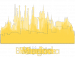 Allium, a typical european city - Skyline silhouettes via Shutterstock