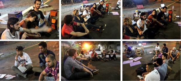 Foto: Una de las asambleas de los miércoles del proyecto #WikipraçaSP - #Wikipraça Arouche, en el largo do Arouche de São Paulo.