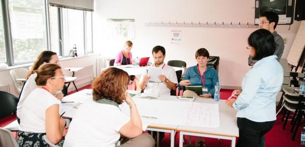 Sesión de trabajo en uno de los grupos - Foto: URBACT