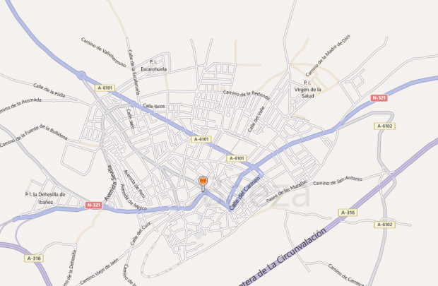 Baeza en Bing Maps
