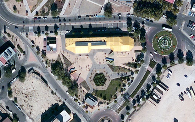 Ortofoto de Plaza Ecópolis en Bing Maps