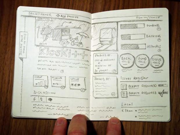 Brickstarter sketch