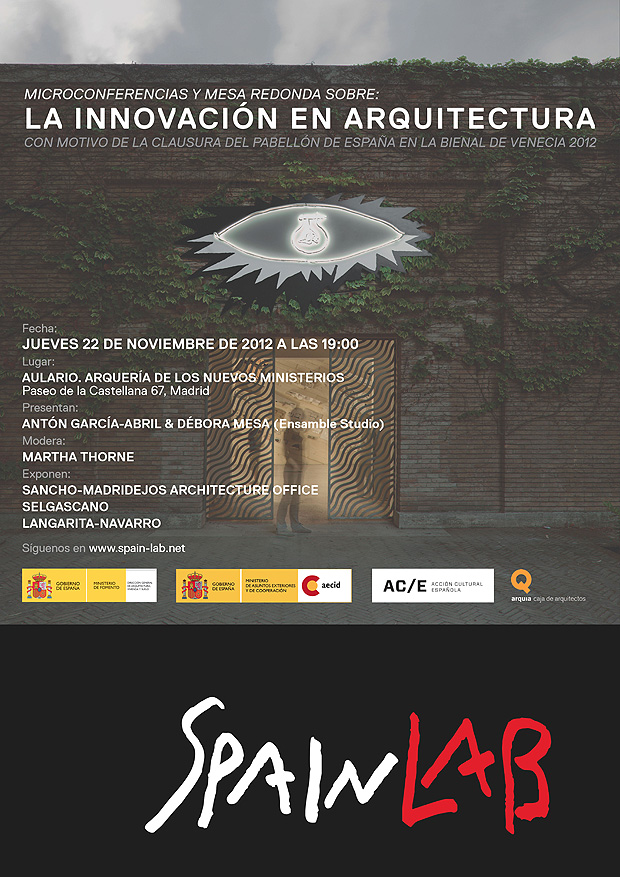 Cartel del evento de clausura SpainLab