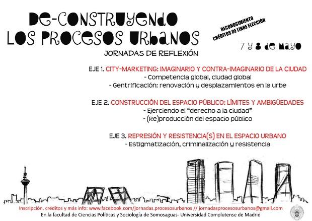 de-construyendo los procesos urbanos - cartel - clic para ampliar