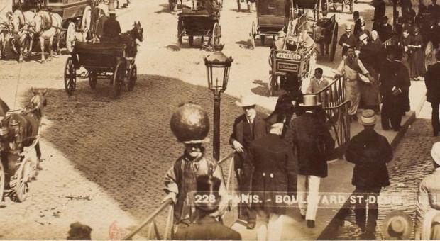 Monsieur à la boule, Boulevard St. Denis, París, 1889