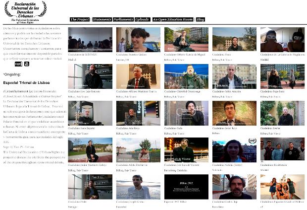 Web de la Declaración Universal de los Derechos Urbanos - Clic para ver