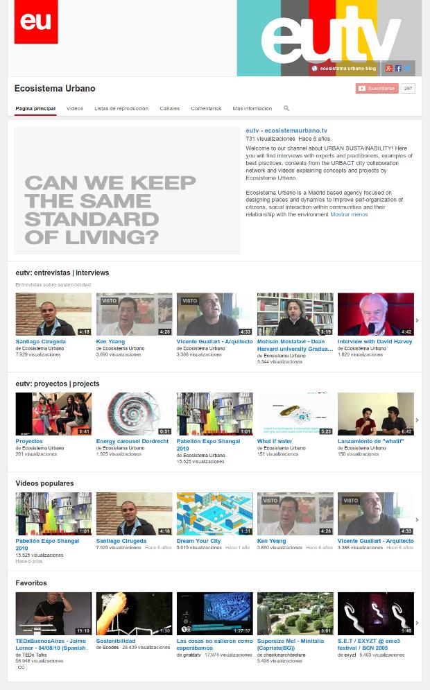 Imagen del que será, a partir de ahora, nuestro principal canal de vídeo