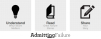 Admitting failure