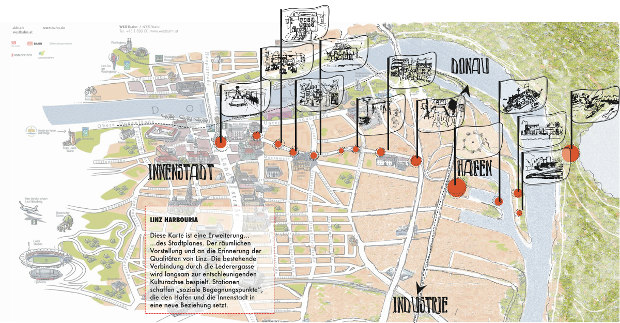 Extending the tourist map and creating a 'urban life chain' from the center to the harbour