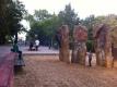 Arenero con pequeño rocodromo y zona de bancos estancial para usuarios y acompañantes anexa a la zona de ping-pong. No hay mas diferenciación entre ellas que el cambio de firme. Parque en tre Löhmuhlstrasse y el Landwerhkanal Foto: A.Walliser
