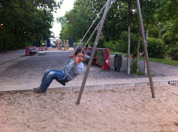 El parque entre Löhmuhlenstrasse y Landwehrkanal en Treptow. Foto: A. Walliser