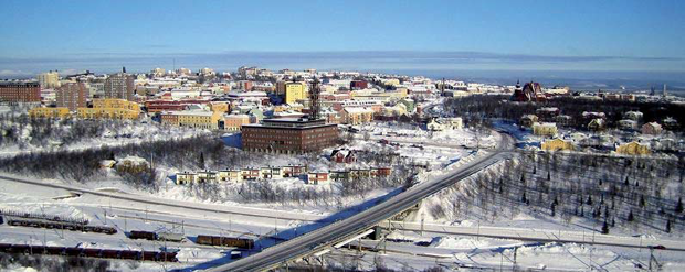 Kiruna, view of the city centre