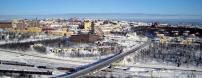 Kiruna, aerial view