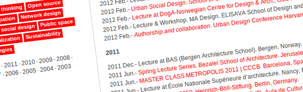 Lectures and exhibitions
