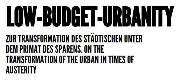 Low Budget Urbanity - visit website