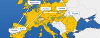 Mapa de proyectos y ciudades URBACT